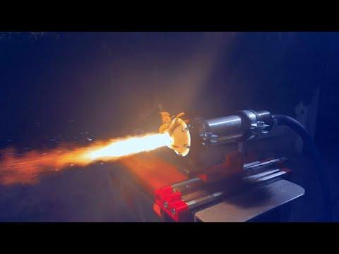 Aerospike Hybrid Rocket Engine 3D printed