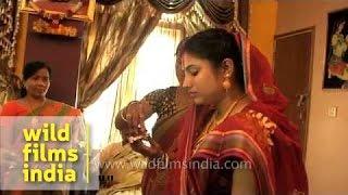 Bengali wedding : Bou Bhaat ceremony in progress