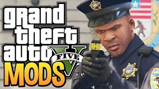 GTA 5 - Franklin Joins the Police Force - GTA 5 Police Mod (GTA 5 Funny Moments w/ Mods)