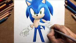 Speed Drawing: Sonic The Hedgehog - Timelapse | Artology