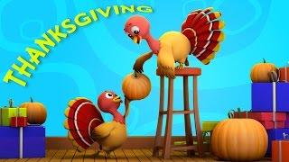 Thanksgiving | turkey song | nursery rhymes Farmees | five little turkeys | kids rhymes