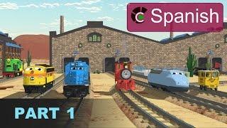 The Number Adventure (SPANISH) - Aprende los números en la fábrica de trenes - Parte 1