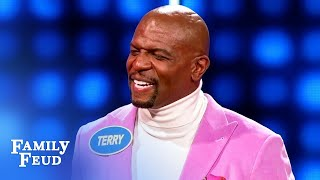 Watch Terry and Rebecca Crews' PEC POPPING performance!   Celebrity Family Feud