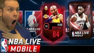 NBA LIVE MOBILE PACK GOD? BALLER PACKS!!