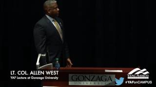 Allen West responds perfectly to campus leftist's question on Islam