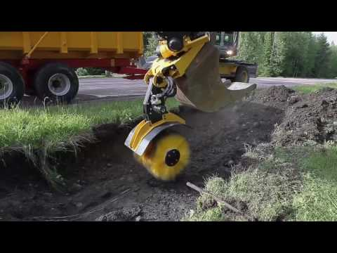 engcon SWD sweeper for excavators