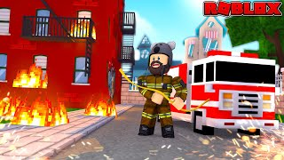 SAVING ROBLOX FROM BURNING DOWN! | Roblox Fire Fighting Simulator