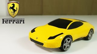 How To Make an Electric  Ferrari Car Out Of Polystyrene Foam