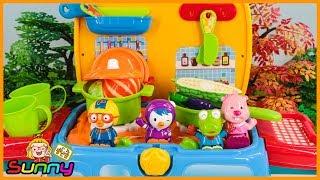 장난감TV 크롱 씨앗 뿌리기 야채밭 거대 채소 음식 만들기 주말농장 놀이 장난감 애니메이션 동영상 Doll Pororo Animation