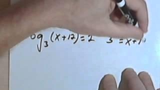 Solving Logarithmic Equations 070-48