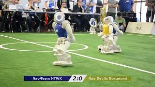 Nao-Team HTWK vs. Nao Devils - RoboCup German Open 2018