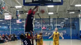 8th Grader Nobal Days Throws Down Two NASTY Tip Dunks!!
