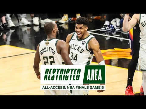 All Access NBA Finals Game 5 Bucks Beat Suns Lead 3 2 Valley Oop Giannis Postgame Message