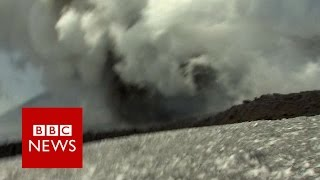 Moment BBC crew caught up in Mount Etna volcano eruption - BBC News