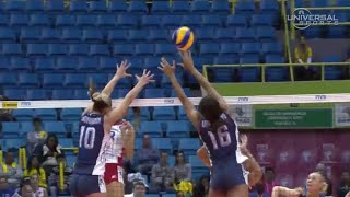 Top Plays from USA vs Russia Women's Volleyball - Universal Sports