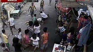 SONA: Pagbugbog at pagsaksak sa isang lalake sa Maynila, kuha sa CCTV