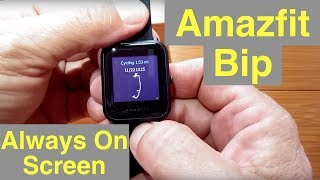 """XIAOMI HUAMI AMAZFIT BIP Fitness Smartwatch """"Always On"""" Screen: Unboxing and 1st Look"""