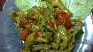 Resep Seblak Ceker Ayam, Chicken foot with Hard crushing Seasoning
