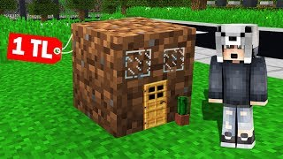 EN KÜÇÜK 1 TL'lik FAKİR GİZLİ GEÇİT BULUNDU! ???? - Minecraft