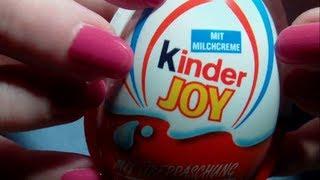 ASMR. Opening some Kinder Joy Eggs