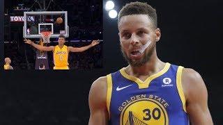 Steph Curry's No Look Shot FAIL!