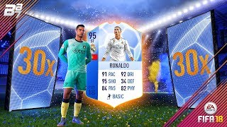 95 RONALDO IN A PACK!! WOW!!   FIFA 18 ULTIMATE TEAM