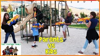 PARENTS VS KIDS BATTLE FOR THE PLAYGROUND / That YouTub3 Family