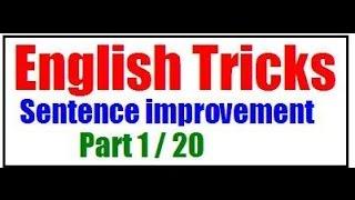 SSC CGL : English Sentence improvement Part 1/ 20 (English medium)