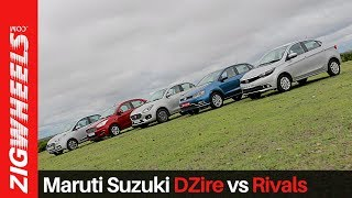 Maruti Suzuki DZire vs Xcent vs Aspire vs Ameo vs Tigor   Compact Sedans   ZigWheels.com