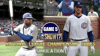 MLB The Show 17   Cubs vs Dodgers National League Championship Series Game 5 Simulation