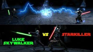 Jedi Luke Skywalker vs Sith Lord Starkiller - The Force Unleashed