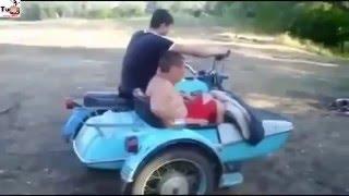 حوادث دراجات نارية مضحكة 2015 Motorcycles funny incidents   YouTube