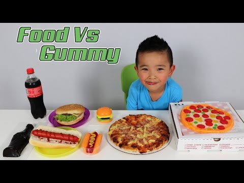 Xxx Mp4 FOOD Vs Giant GUMMY Kids Fun Challenge Giant Candy Sweets Food Tasting Game Ckn Toys 3gp Sex