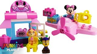 Learn Colors Video For Kids: Paw Patrol Play with Disney Minnie Mouse Cafe Lego Duplo Airplane