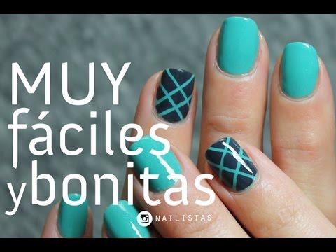 Linda decoración de uñas para principiantes MUY FÁCIL