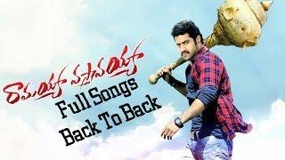 Ramayya Vasthavayya - Back To Back Video Songs -  Jr.NTR,Samantha,Shruti Haasan