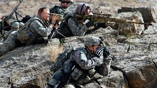 Navy Seals sniper engages Taliban with Barrett M107A1  50 cal rifle
