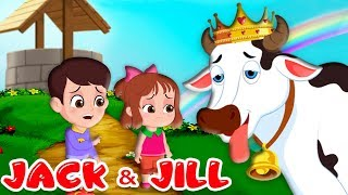 Jack and Jill Nursery Rhyme | Children Songs with Lyrics | Went up the hill