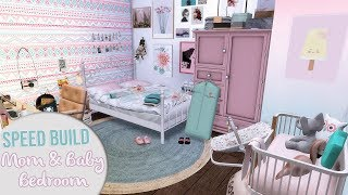 The Sims 4 Speed Build | YOUNG MOM & BABY BEDROOM + CC Links