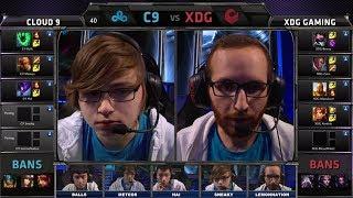 Cloud9 vs XDG | 2014 NA LCS Spring split S4 W4D1 G1 | XDG vs Cloud 9 full game HD | C9 vs XDG