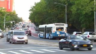 NYC Bus: Jamaica bound LFS Artic 5842 Q44 SBS at Main St/Elder Av