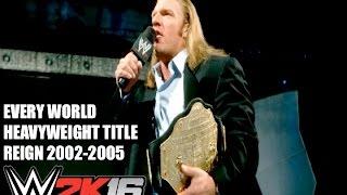 Every World Heavyweight Title Change 2002-2005 WWE 2K16