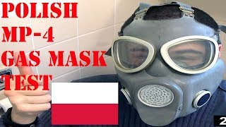 Polish MP-4 Gas Mask review and test