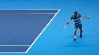 Federer (Close Court Side View) vs Djokovic LIVE - Barclays ATP World Tour Finals 2013