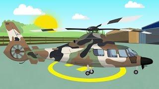Military Helicopter   Animation for children   Helikopter Wojskowy   Bajki Konstrukcje i inne