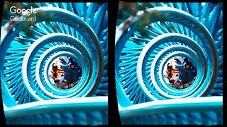 3D ROLLER COASTER - TOP15 VR  | 3D Side By Side SBS Google Cardboard VR Box Gear Oculus Rift