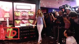 Behati Prinsloo at the Victoria's Secret T-Shirt Bra Press