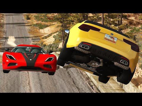 Car Near Miss Compilation #1 - BEAMNG DRIVE