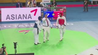 India vs Egypt men +87 kg (R64) WTF World Taekwondo Championship 2017 Muju