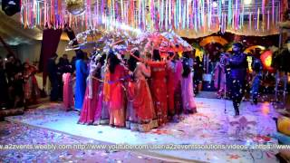 Unique & Classic Mehndi Entry with Umbrellas, Creative Mehndi Event by a2z Events